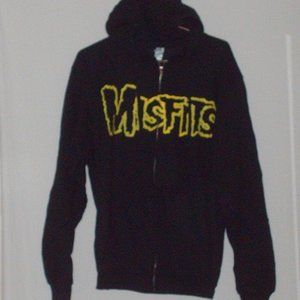 Misfits double-sided zippered hoodie w/ pockets